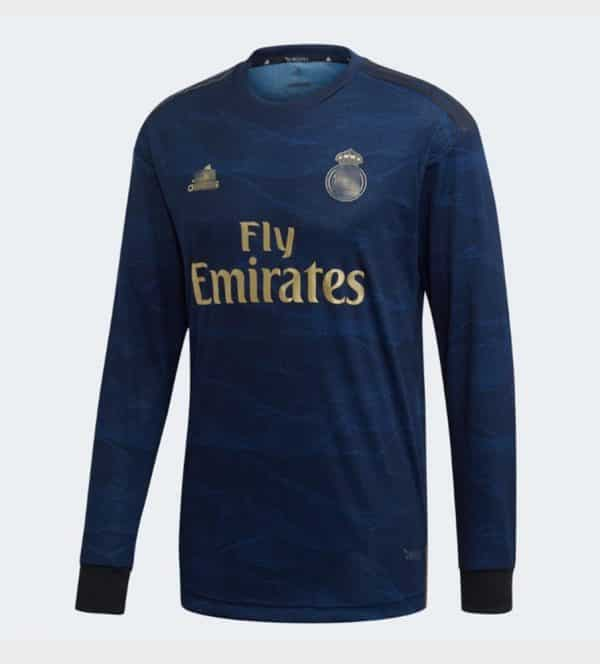 camiseta manga larga 2 equipacion real madrid 2020