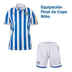 camiseta niño final de copa real sociedad